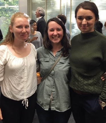 Students at an after-colloquium reception